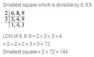 ICSE Class 8 Maths Book Solutions Free Download Pdf Chapter 3 Squares and Square Roots Check Your Progress Q6