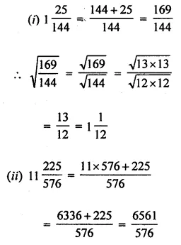 Maths Questions for Class 8 ICSE With Answers Chapter 3 Squares and Square Roots Check Your Progress Q13.1