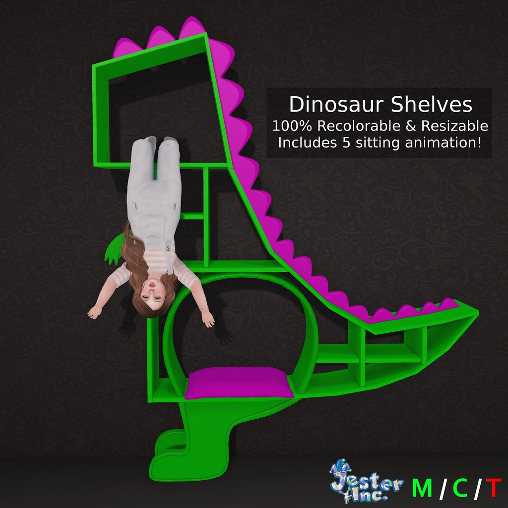 Presenting the new Dinosaur Shelves from Jester Inc.