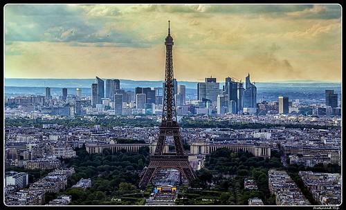 Paris_Eiffel Tower_Champ-de-Mars_Jardins du Trocadéro_Palais de Chaillot_La Defance