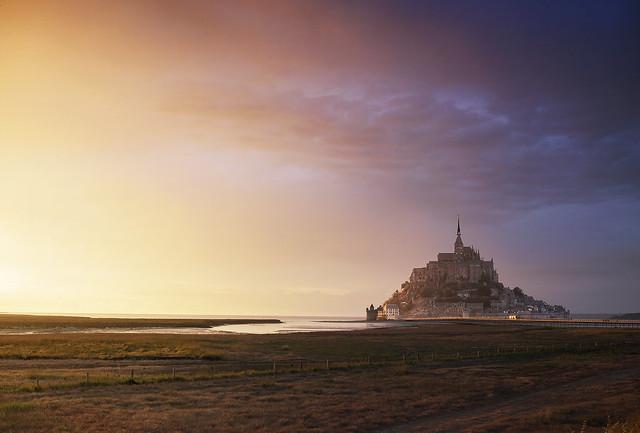 Le Mont Saint Michel Sunset