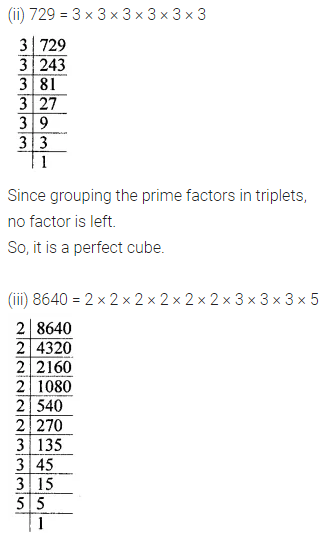 ML Aggarwal Maths for Class 8 Solutions Book Pdf Chapter 4 Cubes and Cube Roots Ex 4.1 Q1.1