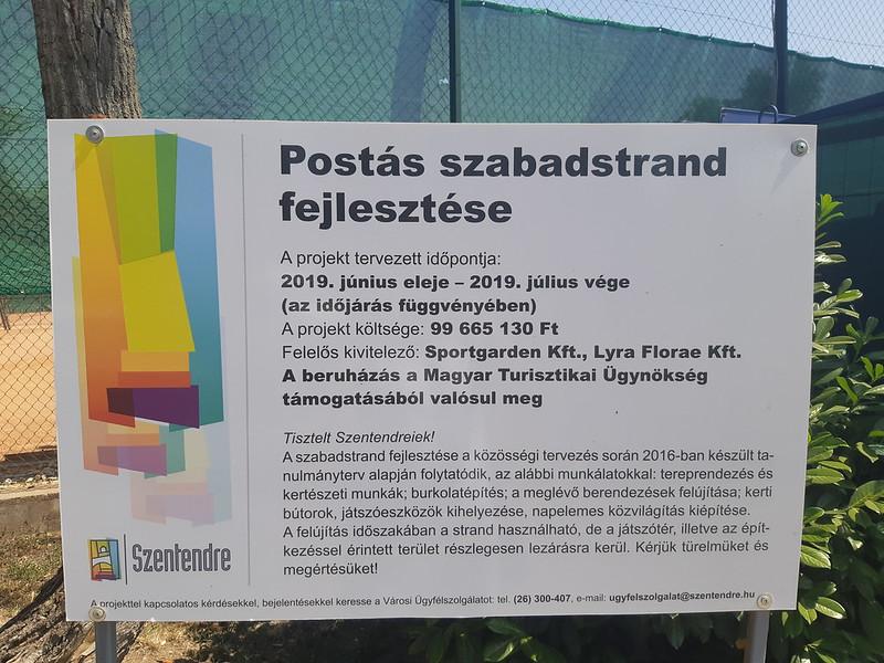 A felújított szentendrei Postás strand