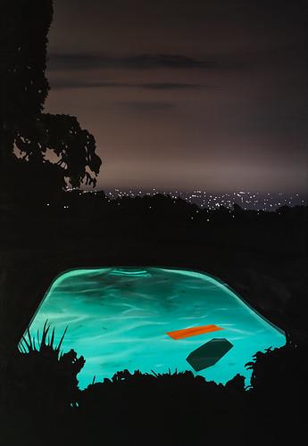 Laurence Jones, Pool with Orange Float, 2019.