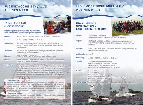 Jugendwoche + Opti-Ossi-Cup im Juli 2019