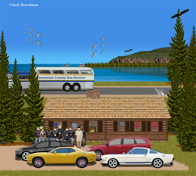 Outside Simpson's Cabin ©Jack Boardman