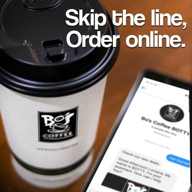 Skip the line, order online with Bo's Coffee BOTTY