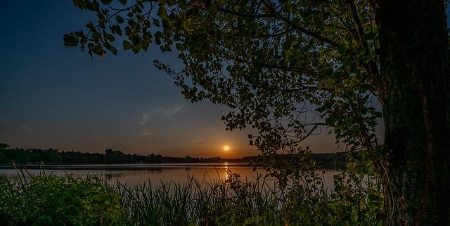 Sonnenuntergang am Dechsendorfer Weiher 2800