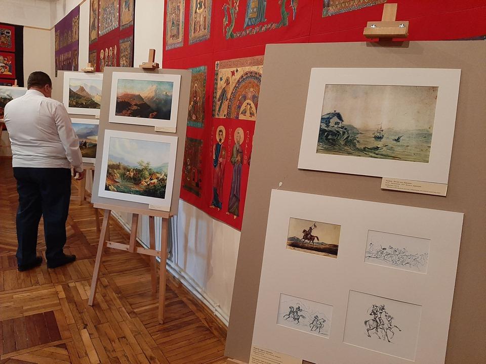 Открытие выставки «Лермонтов-художник», предоставленной музеем-заповедником «Тарханы», организованной контактным центром РЦНК г. Гюмри и Ванадзорским филиалом национального центра эстетики