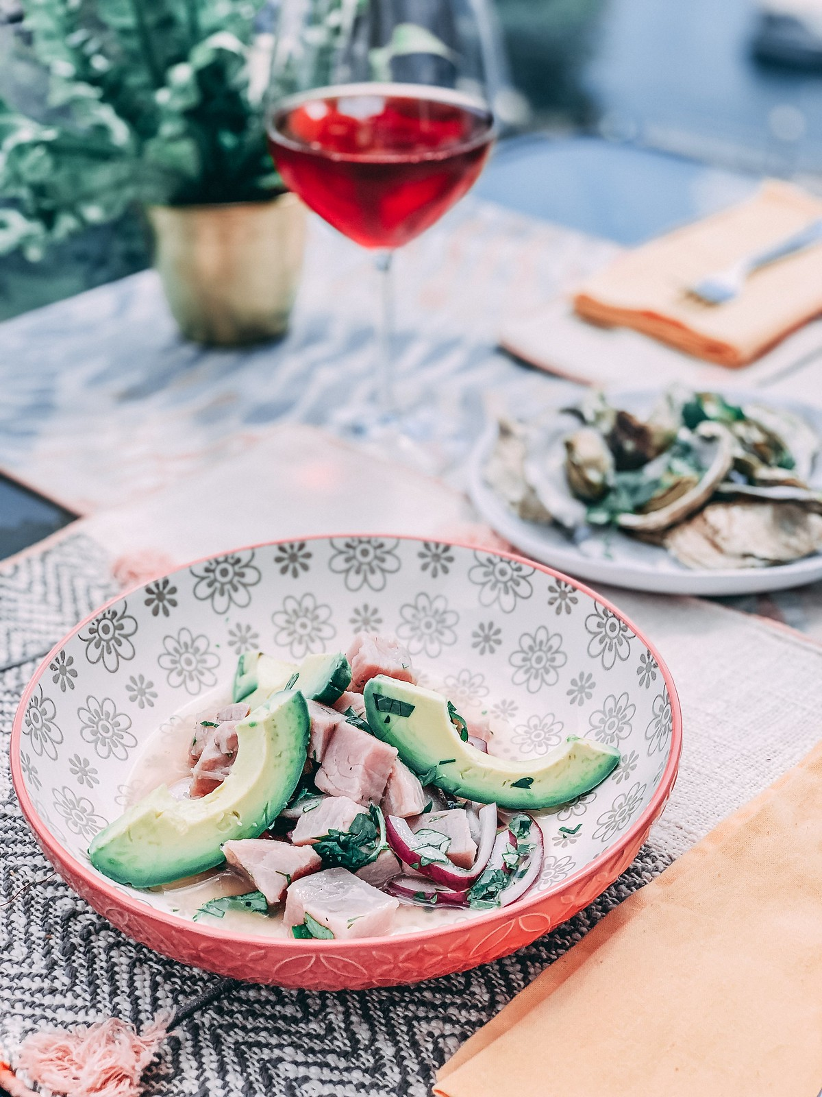 Tuna Ceviche with avocado