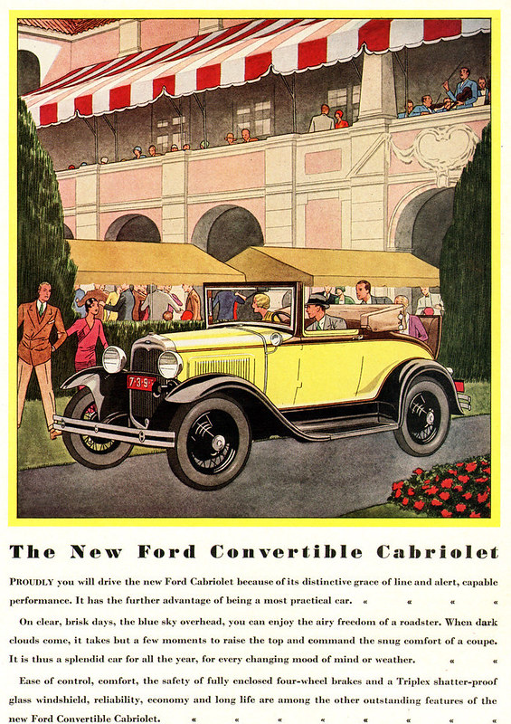 1930 Ford Model A Convertible Cabriolet