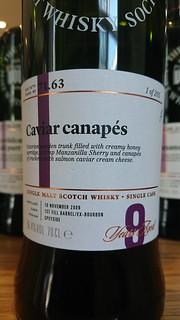SMWS 71.63 - Caviar canapés
