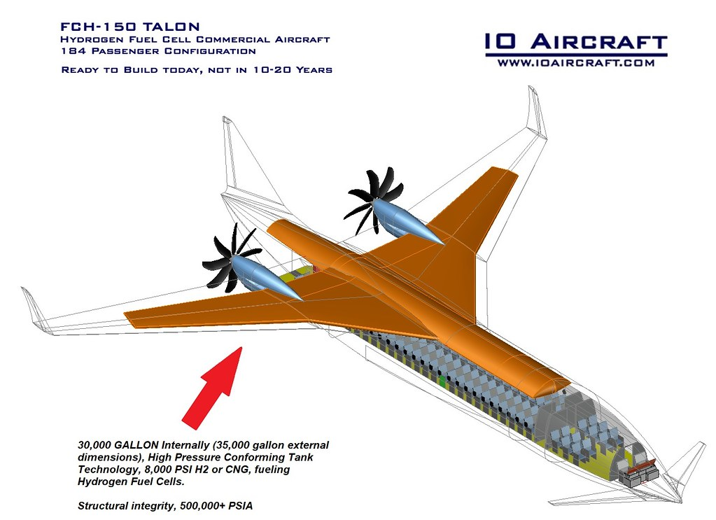 FCH-150 Hydrogen Fuel Cell Commercial Aircraft - IO Aircraft - IT1