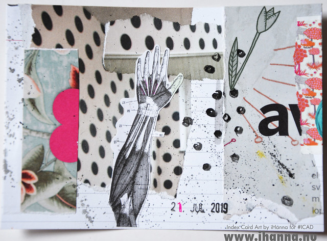July 21 ICAD by iHanna (index card a day collage) #dyicad #ICAD