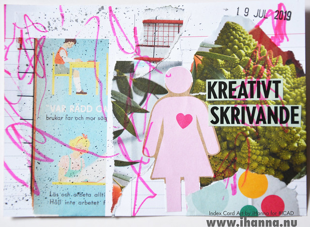 July 19 ICAD by iHanna (index card a day collage) #dyicad #ICAD