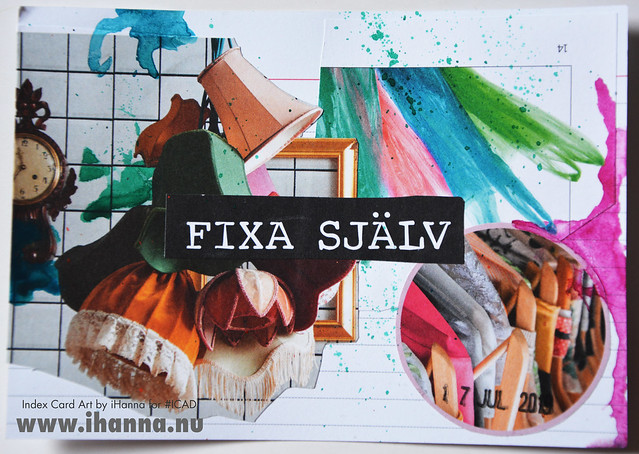 July 17 ICAD by iHanna (index card a day collage) #dyicad #ICAD