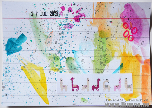 July 27 ICAD by iHanna (index card a day collage) #dyicad #ICAD