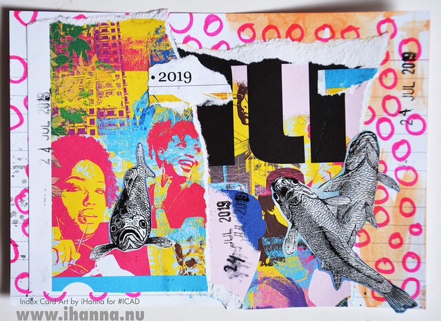 July 24 ICAD by iHanna (index card a day collage) #dyicad #ICAD