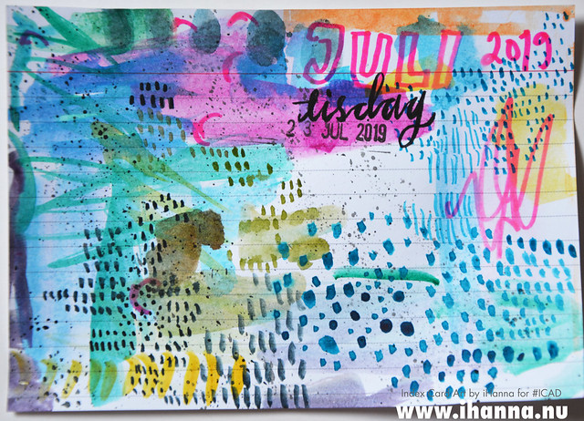 July 23 ICAD by iHanna (index card a day collage) #dyicad #ICAD