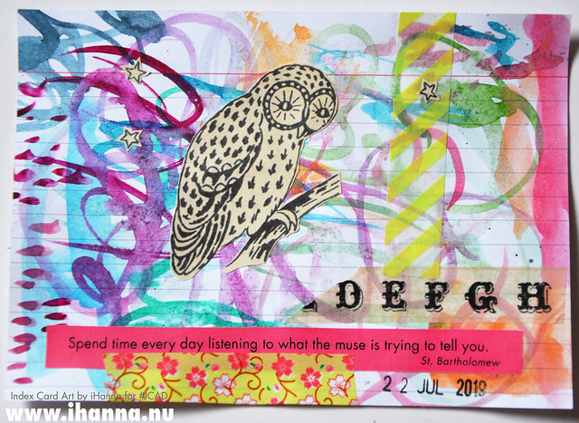 July 22 ICAD by iHanna (index card a day collage) #dyicad #ICAD