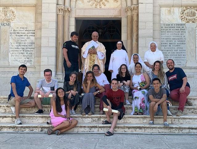 Grupo jóvenes peregrinos Diócesis Vitoria 2019