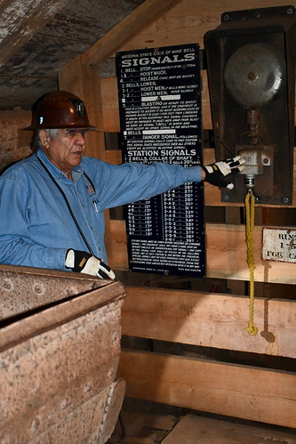 Demo of Signaling System inside Queen Mine. From History Comes Alive in Cochise County, Arizona
