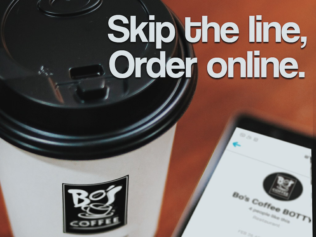 Skip the Line at Bo's Coffee: Order through Messenger