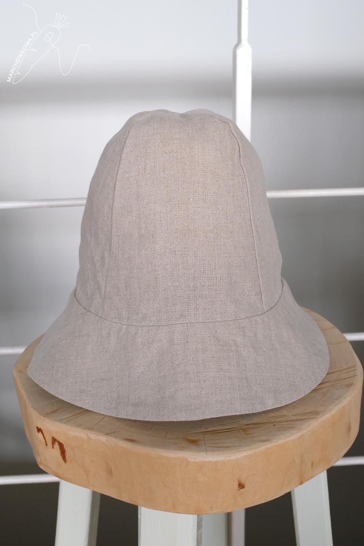 marchewkowa, szycie, krawiectwo rękodzieło retro, wykroje, laniany kapelusz, lata '60., vintage patterns, Neuer Schnitt, linen hat, 1960s, style, fashion