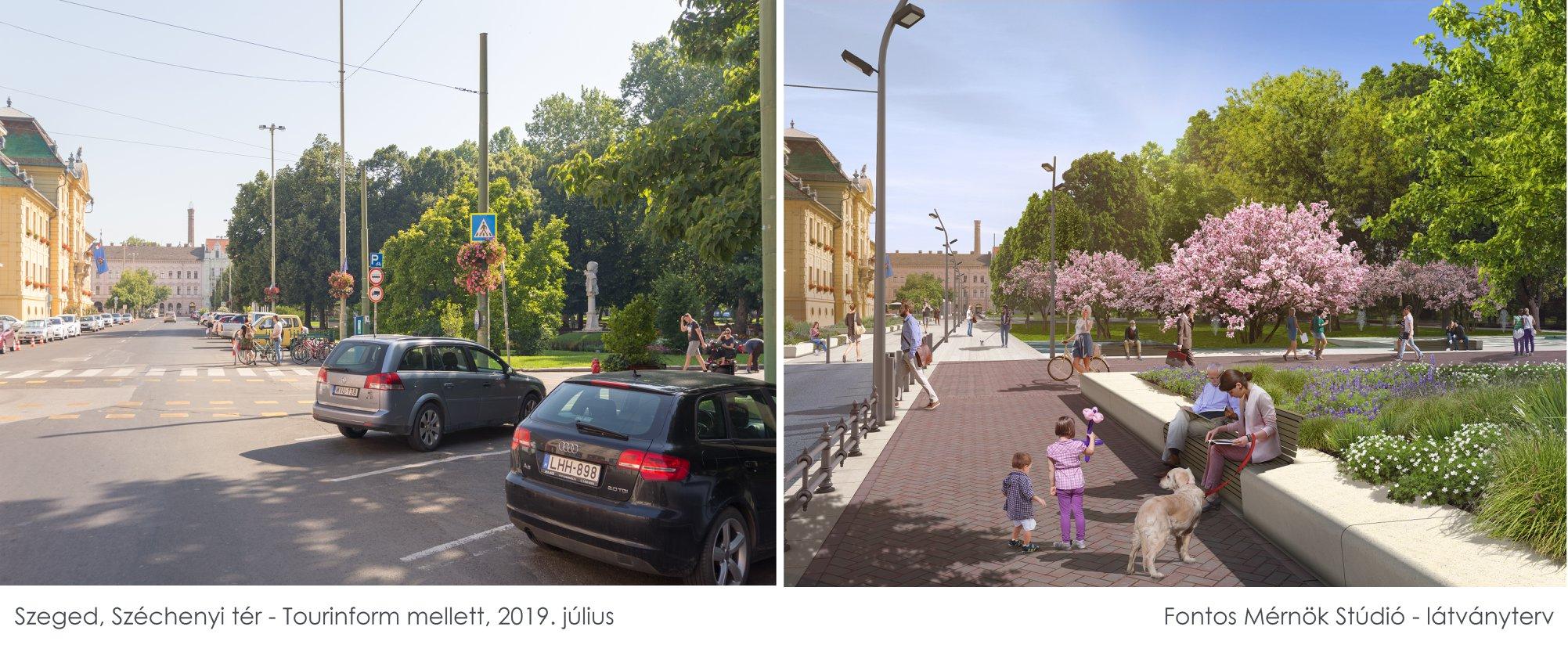 Képpárokon látható, hogy milyen most és milyen lesz a Széchenyi tér
