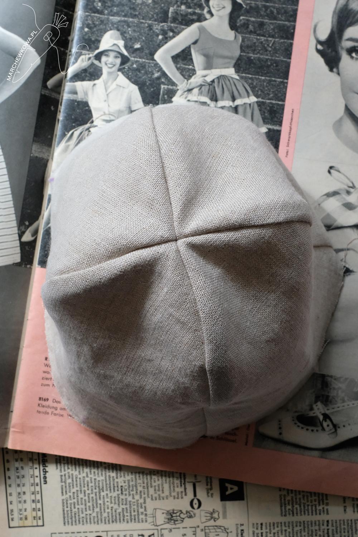 marchewkowa, Wrocław szyje, krawiectwo rękodzieło retro, wykroje, laniany kapelusz, lata '60., vintage patterns, Neuer Schnitt, linen hat, 1960s, style, fashion