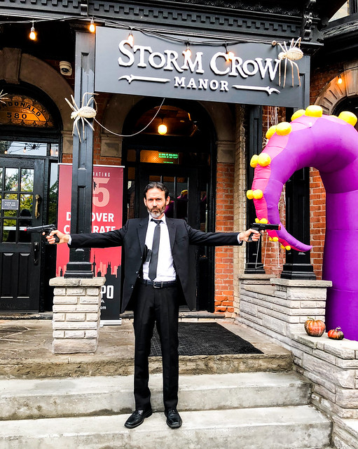 Storm Crow Manor FAN EXPO Canada Halloween in July Patio Party