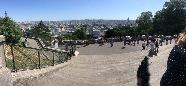 Steps of Montmartre, pano