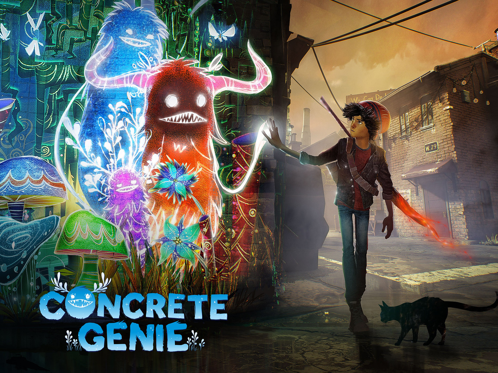 Concrete Genie wallpaper - Tablet - With Logo