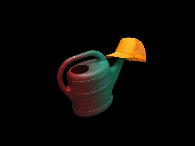 crazy watering can with crazy cap
