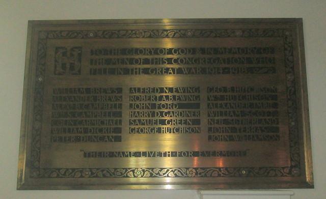 Great War Memorial St Drostan's, Markinch,