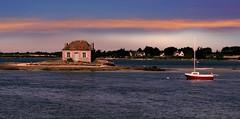 Saint Cado (Belz, Morbihan, Bretagne, Fr) – La maison du pêcheur .
