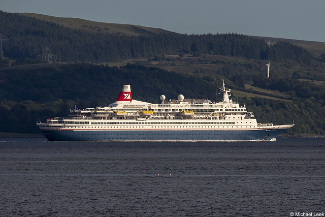 The Bahamas registered cruise ship MV Black Watch, IMO 7108930; Firth of Clyde, Scotland