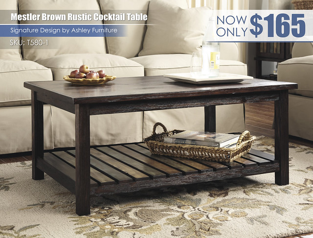 Mestler Brown Rustic Cocktail Table_T580-1