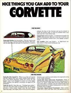 1974 Chevrolet Corvette Optional Features
