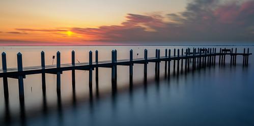 barnegatbay pier dock sunrise longexposure newjersey jerseyshore