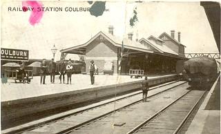 Goulburn Railway Station c.  1923