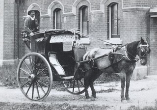 Horse and Buggy outside Goulburn Waterworks Pumping Station c. 1900