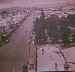 Aerial View of Auburn Street looking north, Goulburn c. 1900