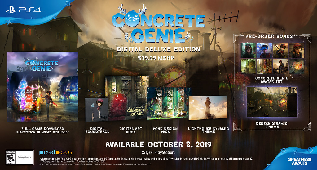 Concrete Genie Launches October 8 on PS4, Photo Mode Confirmed