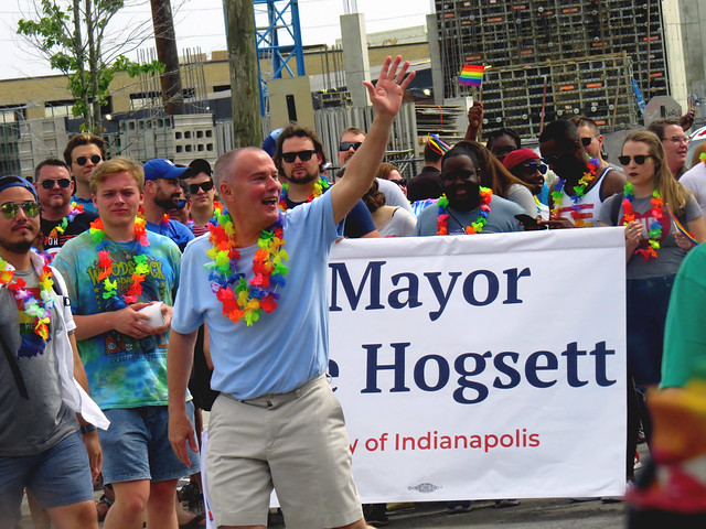 #MayorHoggsett of Indianapolis, loves running for mayor.