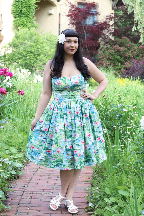 bernie dexter monet waterlily dress
