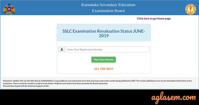 Karnataka SSLC Revaluation June 2019 Result