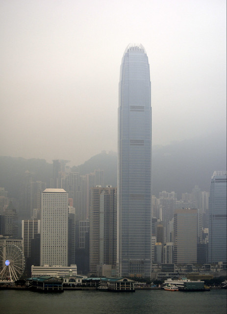 A FOGGY HONG KONG MORNING.  VERY MYSTICAL...SHINES A WHOLE DIFFERENT LIGHT.  VICTORIA HARBOR,  SOUTH CHINA SEA.,