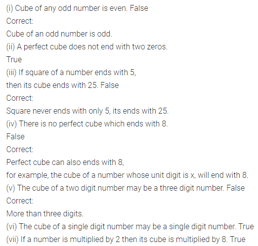 APC Maths Class 8 Solutions Chapter 4 Cubes and Cube Roots Objective Type Questions Q2