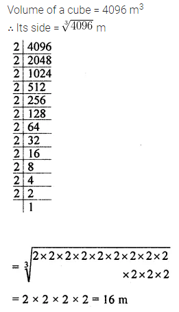 Maths Questions for Class 8 ICSE With Answers Chapter 4 Cubes and Cube Roots Check Your Progress Q7